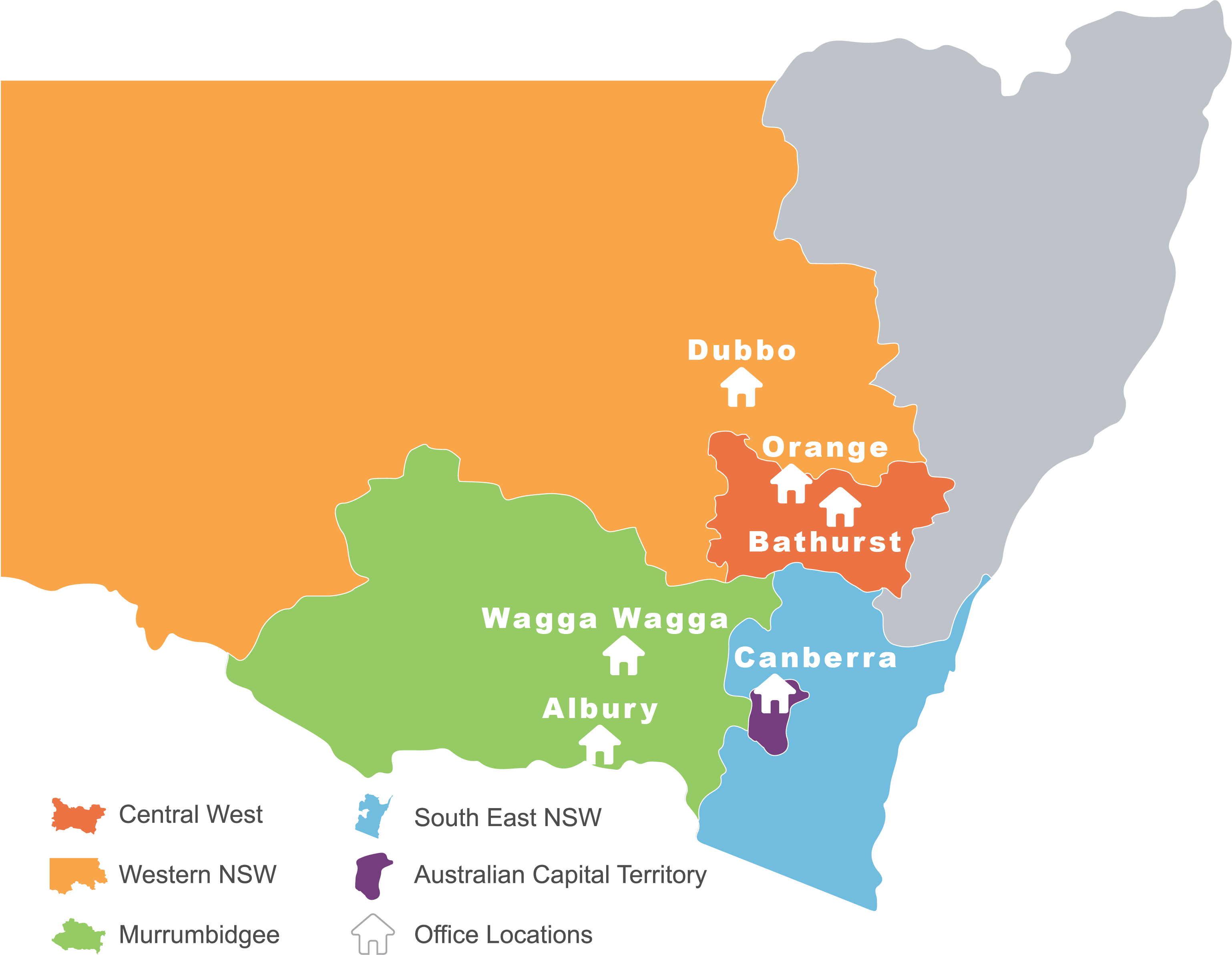 Where we deliver care map